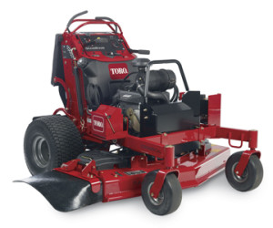 grandstand stand on mower