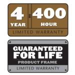 Titan 4yr 400hr / Lifetime Frame Limited Warranty