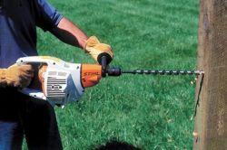 stihl equipment gas engine boring auger drills