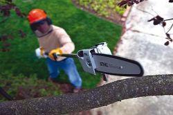 stihl equipment adjustable length pole chain saw
