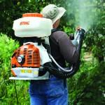 STIHL SR450 Back Pack Sprayer in Action 2