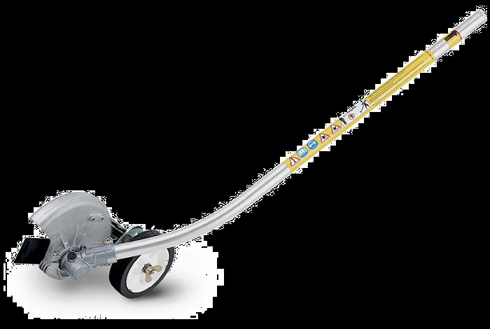 curved shaft edger driveway sidewalk attachment