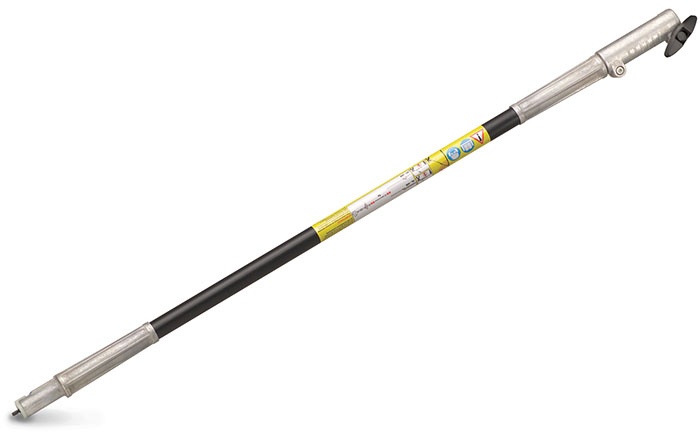 carbon fiber extension pole attachment