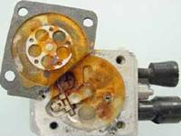 Water damage to carburetor