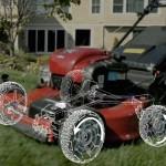 All wheel drive push mower
